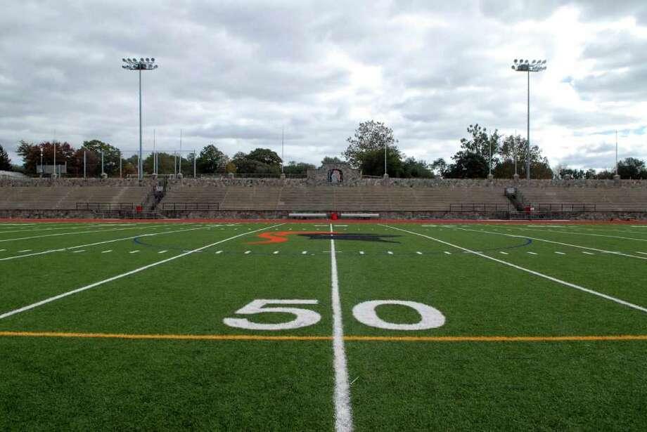 Boyle Stadium at Stamford High School on Friday October 21, 2011 Photo: Dru Nadler / Stamford Advocate Freelance