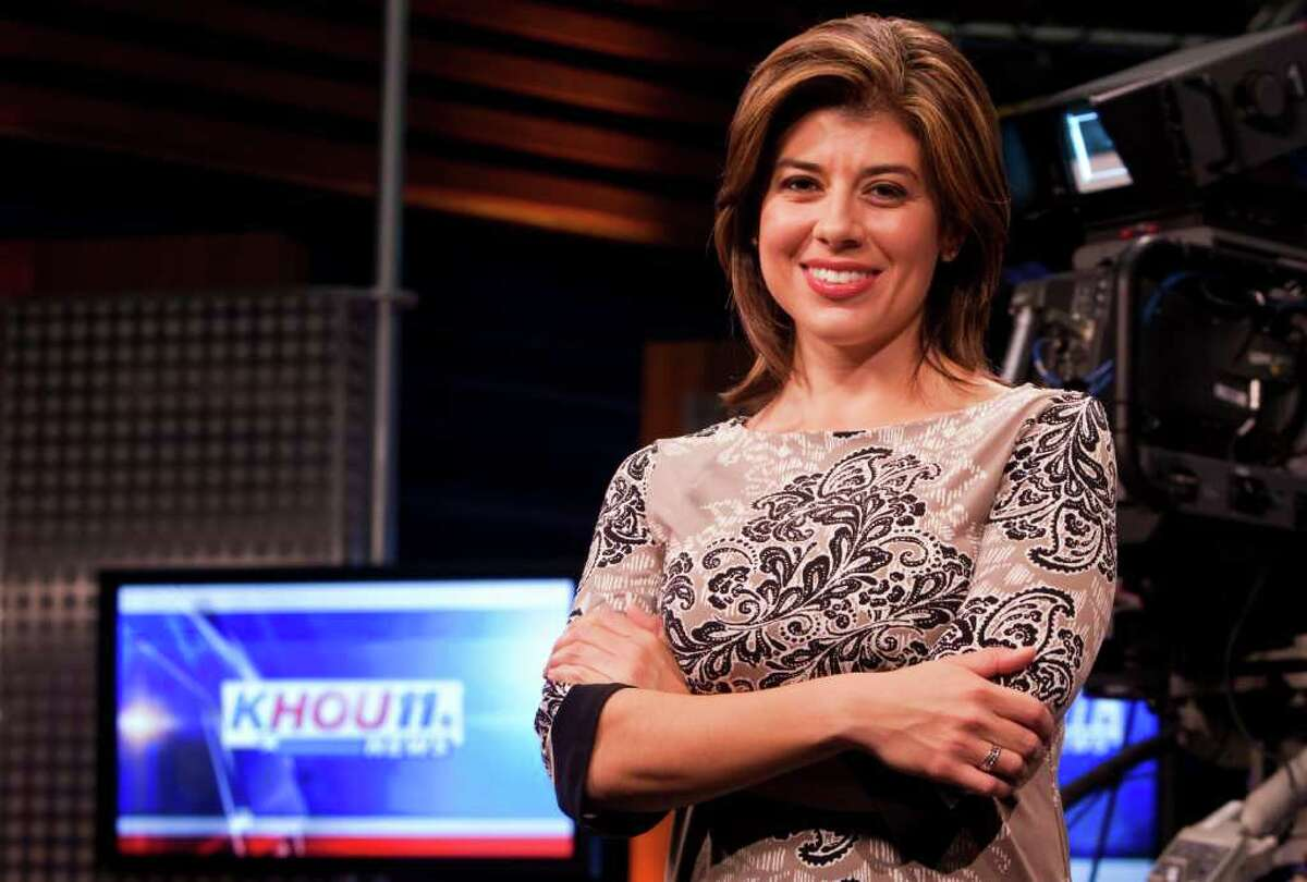 Lisa Hernandez, KHOU's newest anchor, says she's excited to land an anchor job in a top 10 market, Wednesday, Sept. 14, 2011, in the KHOU studio in Houston. ( Nick de la Torre / Houston Chronicle )