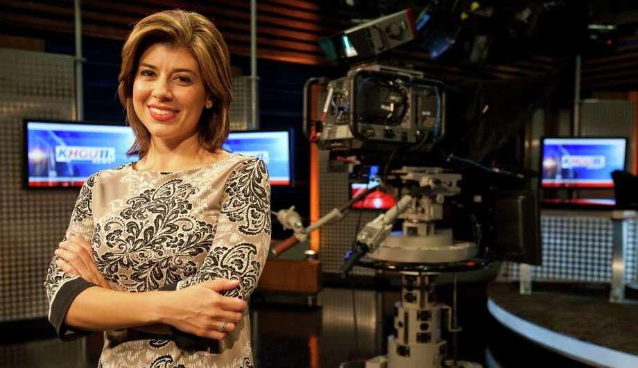 KHOU anchor Lisa Hernandez gave birth to a baby girl on Wednesday. Photo: Nick De La Torre / © 2011 Houston Chronicle