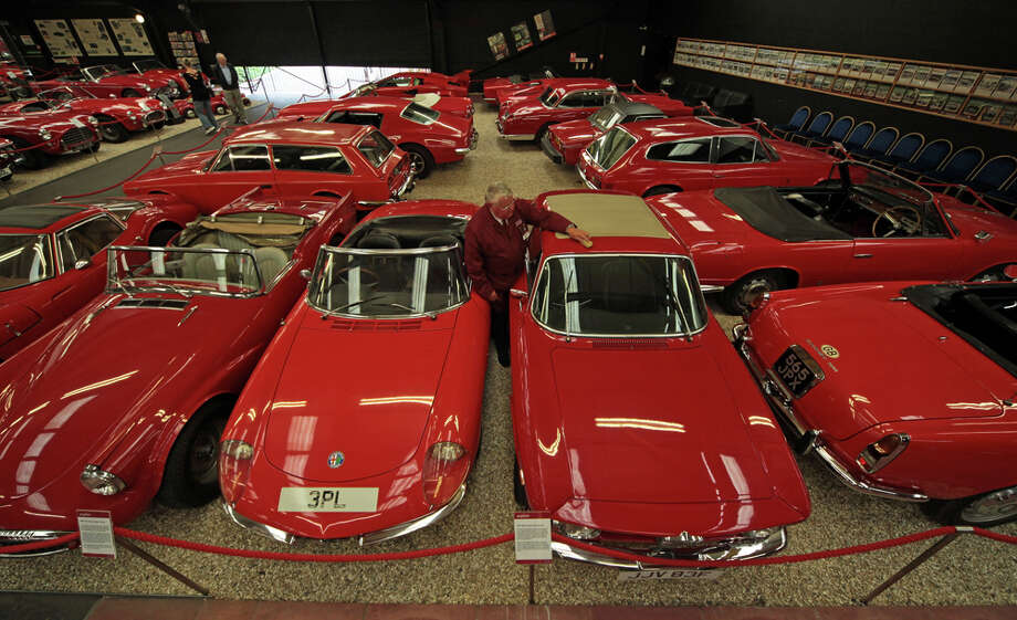Where red cars can just be themselves. Photo, of the Haynes Motor Museum in England, by Getty Images. / 2010 Getty Images
