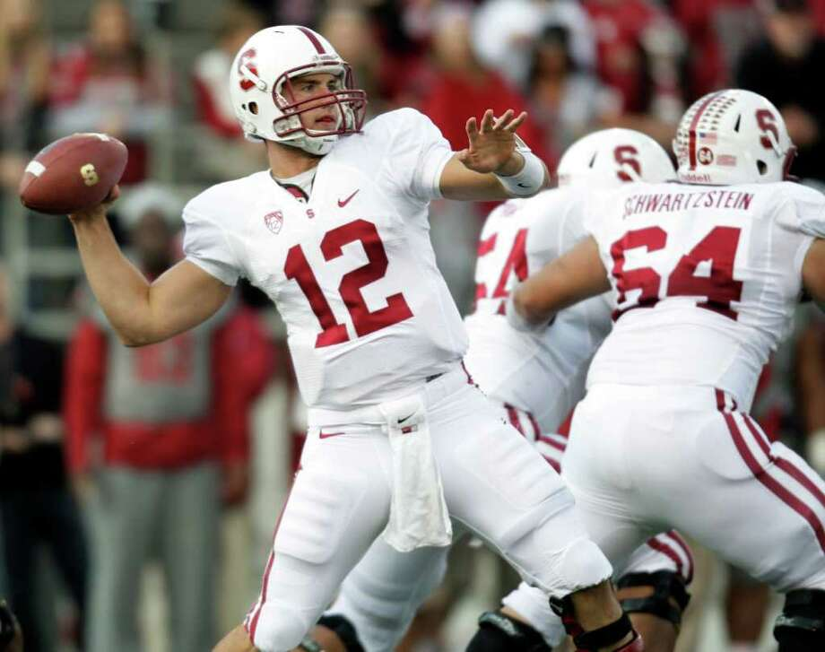 Stanford quarterback Andrew Luck (12) attempts a pass during the first half of an NCAA college football game against Washington State on Saturday, Oct. 15, 2011, in Pullman, Wash. (AP Photo/Dean Hare) Photo: Dean Hare, Associated Press / FR158448 AP