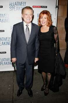 "Regis and Joy Philbin attend the opening night of ""Relatively Speaking"" at the Brooks Atkinson Theatre October 20, 2011 in New York City. The Philbins were recently spotted dining at Gabriele's Italian Steak House in Greenwich. (Photo by Cindy Ord/Getty Images) Photo: Cindy Ord, Getty / 2011 Getty Images"