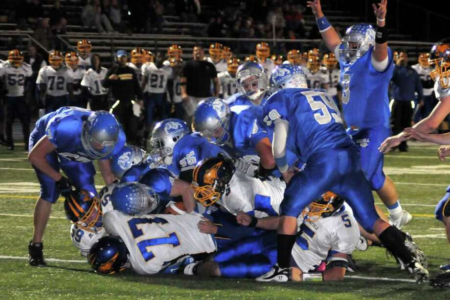 Highlights of boys football action between Bunnell and Brookfield in Stratford on Friday Oct. 21, 2011. Photo: Lisa Weir / The News-Times Freelance