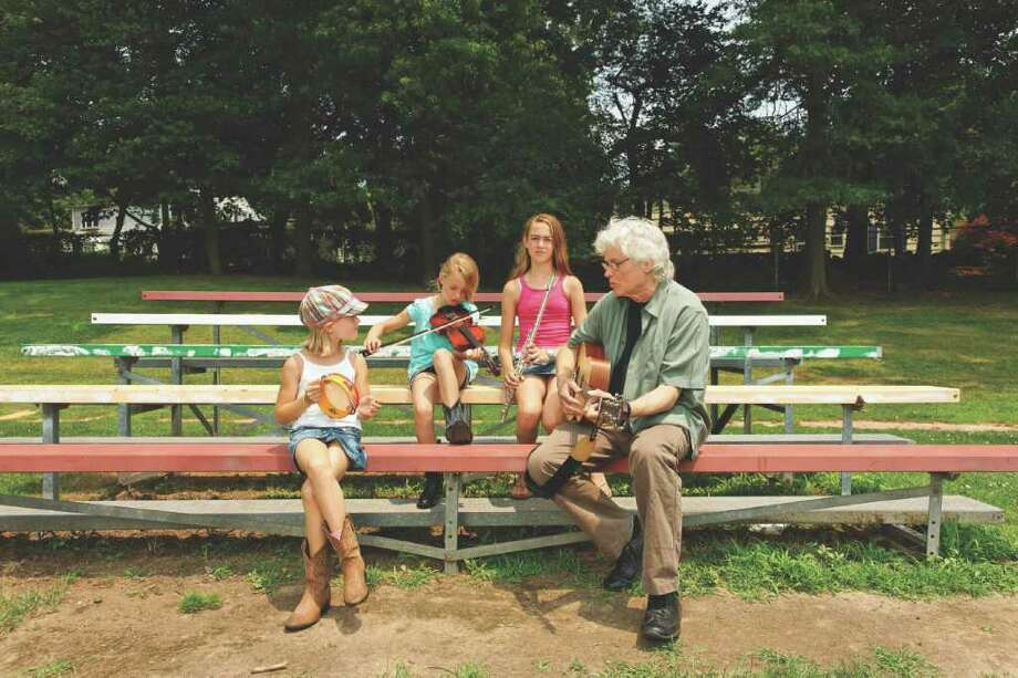 "Chip Taylor and his granddaughters, from left, Riley, Kate and Samantha Ennis released their debut album, ""Golden Kids Rules,"" earlier this week. Taylor is the author of ""Wild Thing"" and his grandchildren live in the Riverside section of Greenwich. Photo: Contributed Photo"