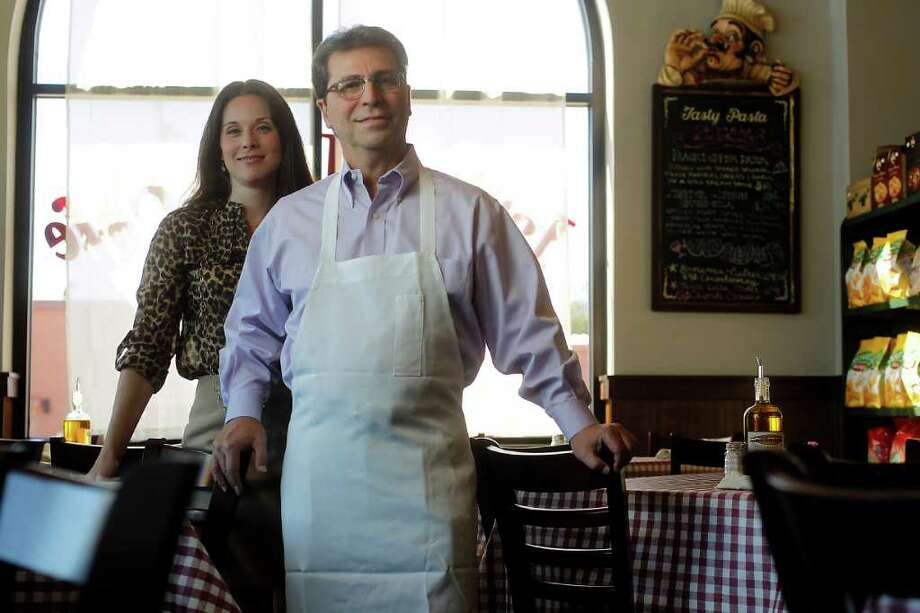 KAREN WARREN PHOTOS : CHRONICLE NEW PLACE: Nash D'Amico and daughter Brina D'Amico Donaldson own D'Amico's Italian Market Café. Their second location just opened in the Heights. Photo: Karen Warren / © 2011 Houston Chronicle