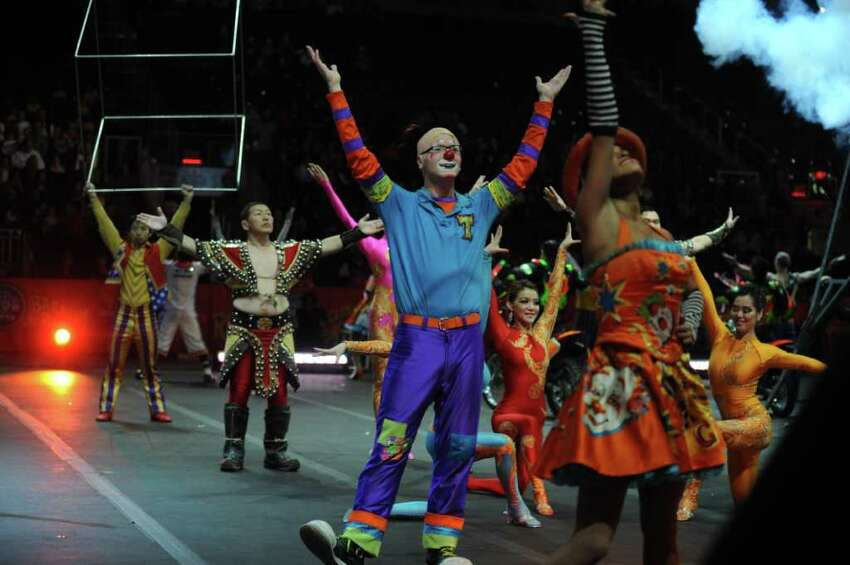 The Ringling Bros. and Barnum & Baily Circus puts on their show Friday, Oct. 21, 2011 at the Webster Bank Arena at Harbor Yard in Bridgeport, Conn. The show runs through Sunday, Oct. 23, 2011.