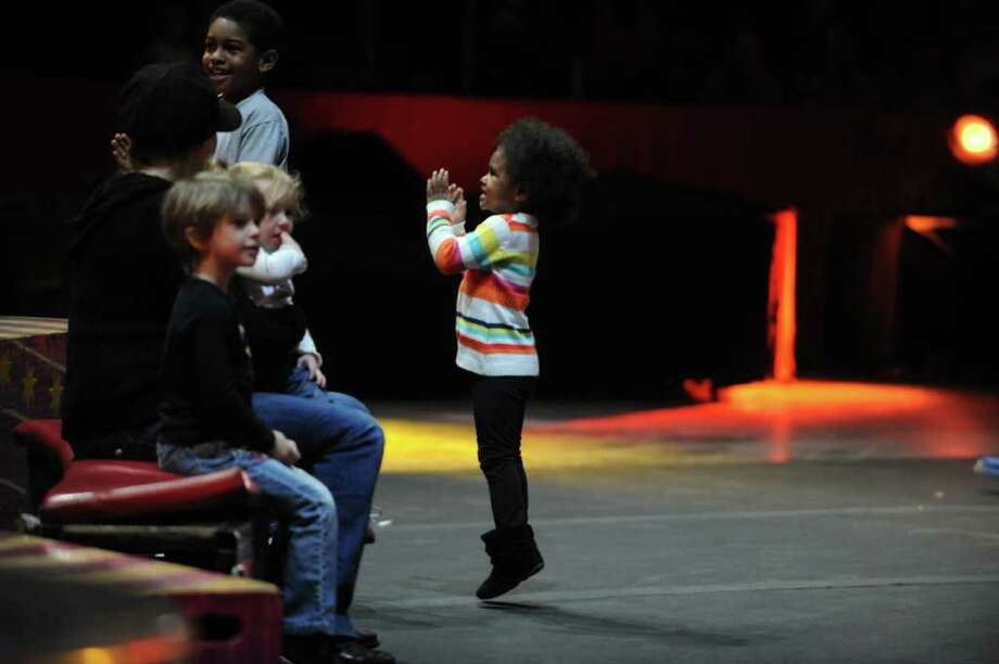 The Ringling Bros. and Barnum & Baily Circus puts on their show Friday, Oct. 21, 2011 at the Webster Bank Arena at Harbor Yard in Bridgeport, Conn.  The show runs through Sunday, Oct. 23, 2011. Photo: Autumn Driscoll / Connecticut Post