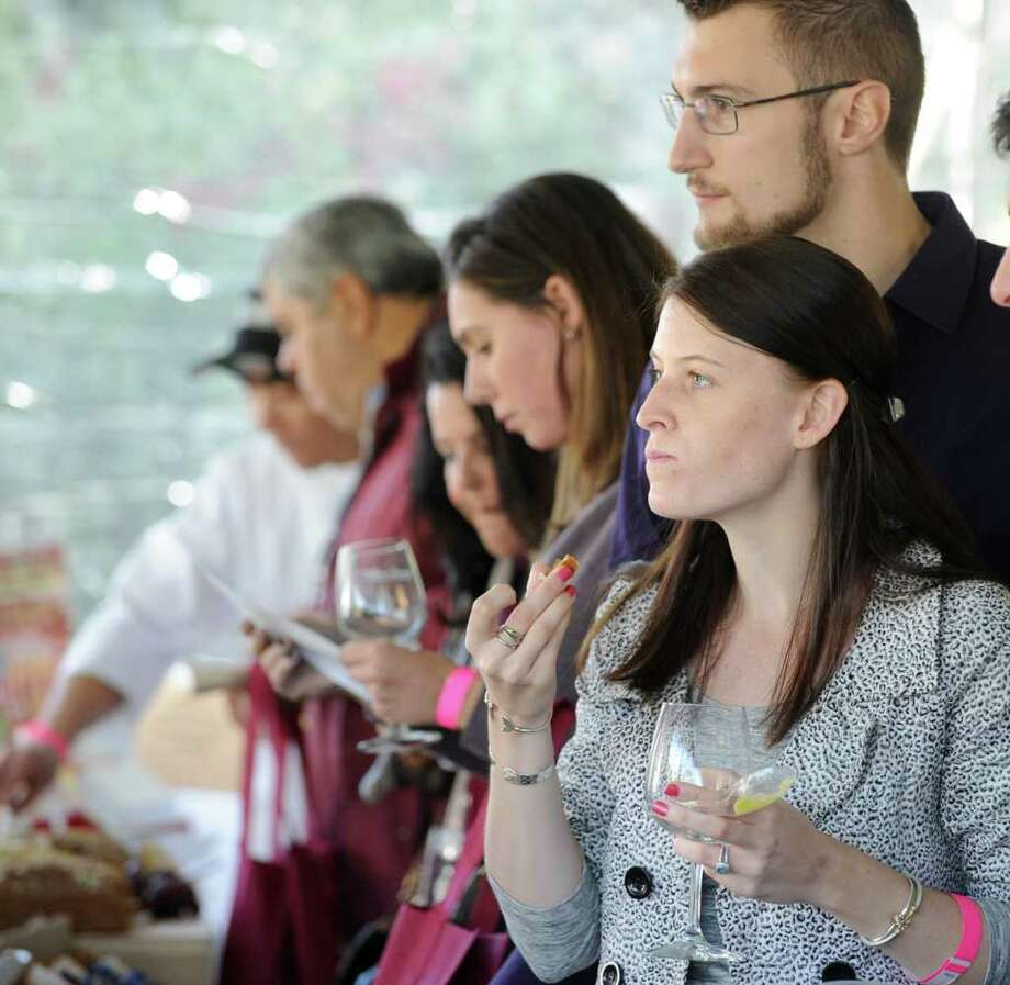 The annual Greenwich Wine + Food Festival is back on Thursday, Friday and Saturday. Enjoy food tastings, cooking demos from celebrity chefs, music and more. Find out more.  Photo: Bob Luckey / Greenwich Time
