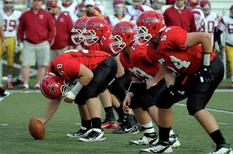 Highlights from boys football action between New Canaan and St. Joseph in New Canaan, Conn. on Saturday October 22, 2011. Photo: Christian Abraham / Connecticut Post