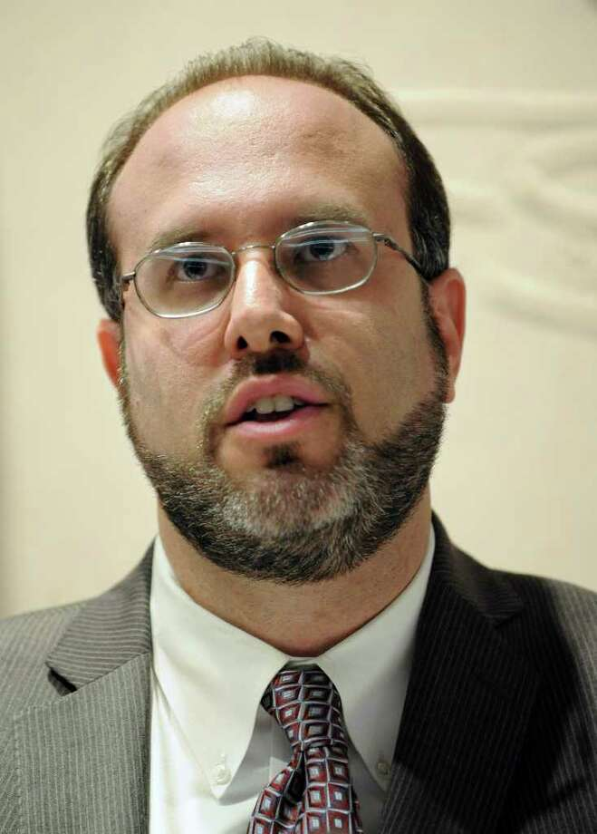New State Department of Education Commissioner Stefan Pryor speaks at a news conference to announce his appointment the Legislative Office Building in Hartford, Conn., Wednesday, Sept. 7, 2011.  (AP Photo/Jessica Hill) Photo: Jessica Hill, Associated Press / AP2011