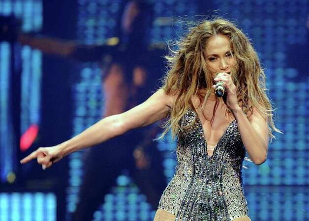 Jennifer Lopez performs at Mohegan Sun during its 15th anniversary celebration in Uncasville, Conn., on Saturday, Oct. 22, 2011. (AP Photo/Fred Beckham) Photo: Fred Beckham, ASSOCIATED PRESS / AP2011