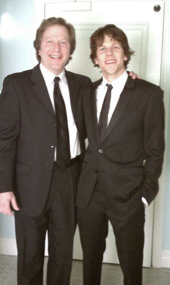 Barry and Jesse Eisenberg at the 2011 Golden Globes. (Provided by Barry Eisenberg)