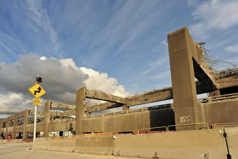The Alaskan Way Viaduct demolition on Sunday, Oct. 23, 2011. Photo: WSDOT