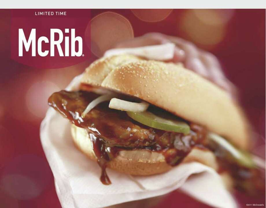 McRib is Back!.  (PRNewsFoto/McDonald's) / MCDONALD'S