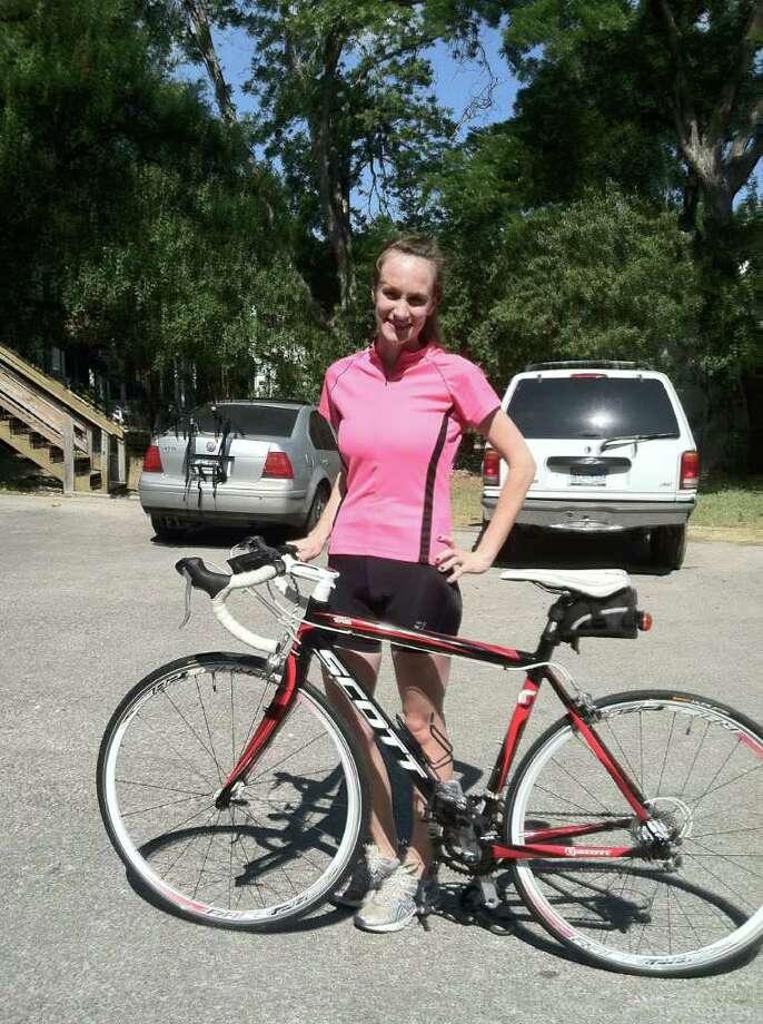 Christie Kokel raised $700 during the Bike MS: Valero 2011 Alamo Ride to the River Oct. 15. Photo: Courtesy Photo