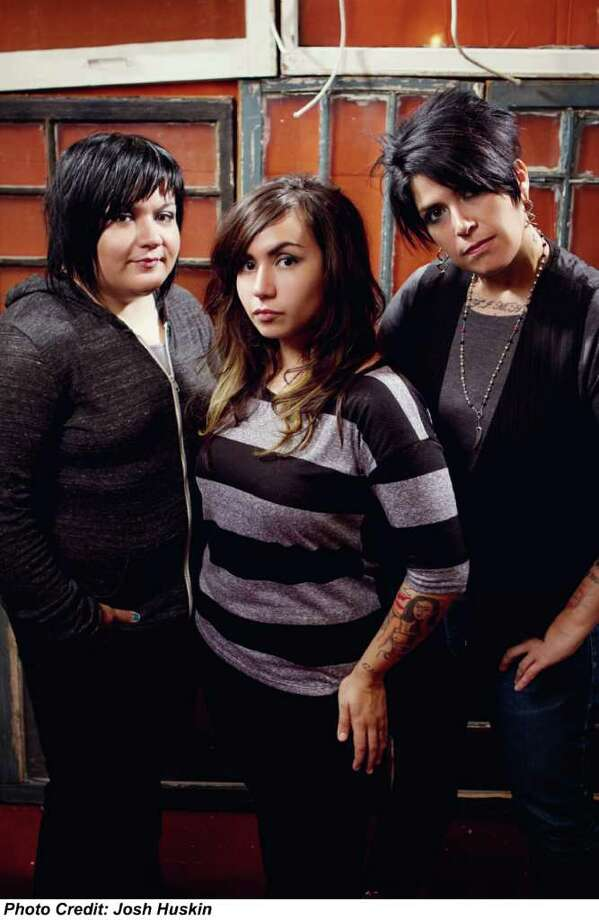 Josh  Huskin GIRL IN A COMA: The San Antonio-based rock trio of Phanie Diaz, from left, Nina Diaz and Jenn Alva released Exits & All the Rest. Photo: Josh Huskin