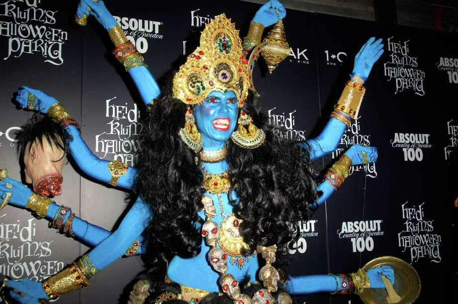TV personality/supermodel Heidi Klum attends her 9th annual Halloween party presented by Absolut 100 at 1 OAK on October 31, 2008 in New York City. Photo: Joe Corrigan, Getty Images / 2008 Getty Images