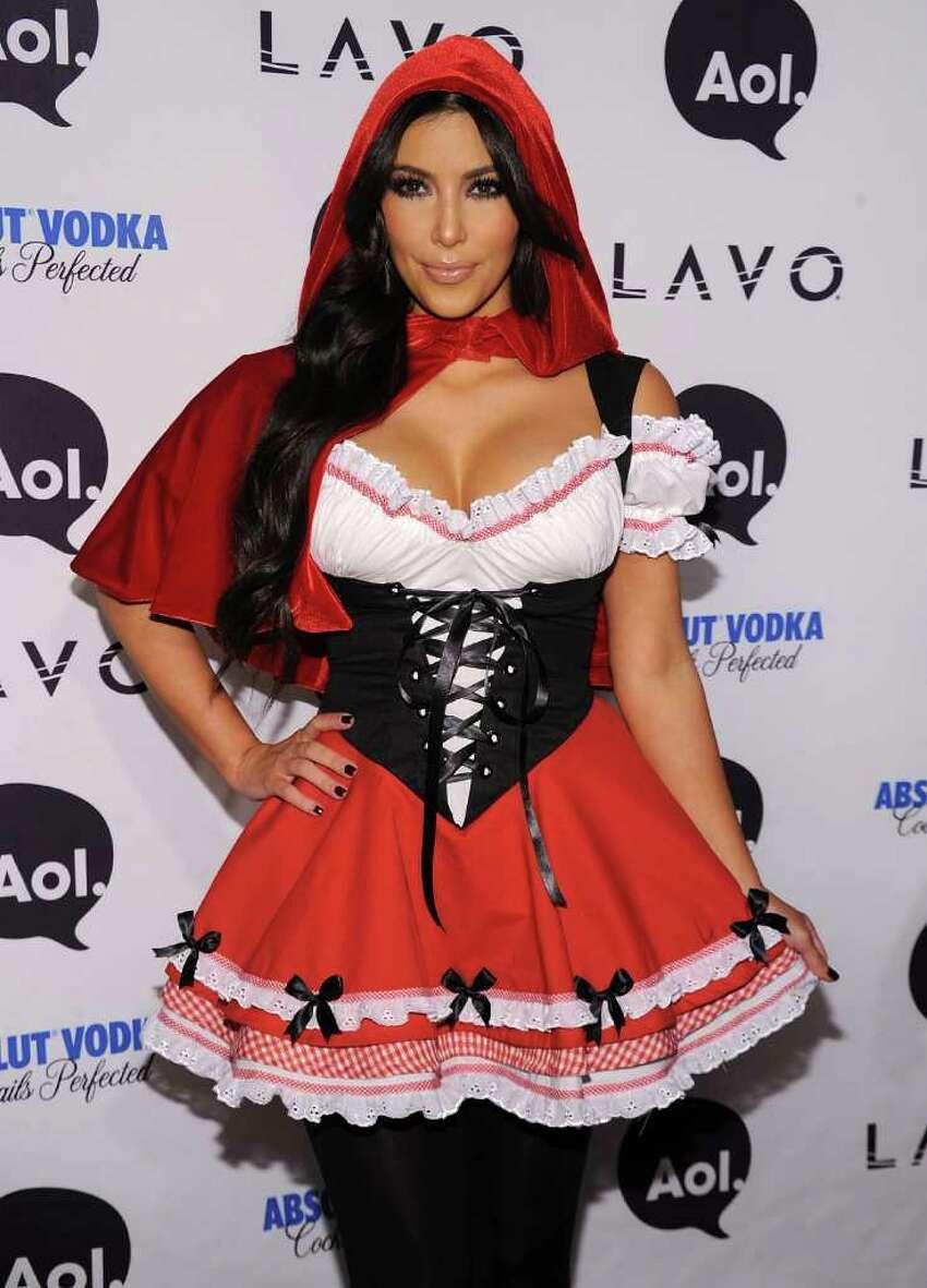 Kim Kardashian attends Heidi Klum's 2010 Halloween Party at Lavo on October 31, 2010 in New York City.