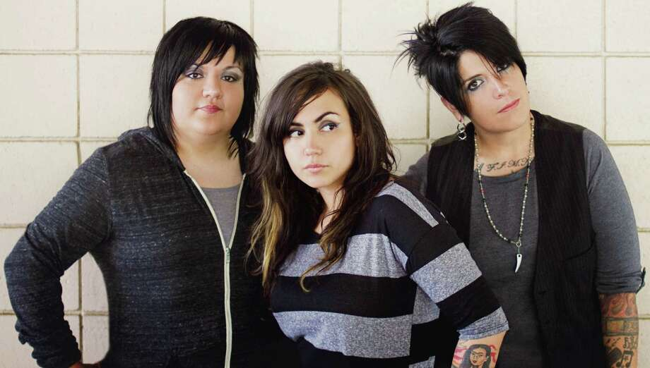San Antonio rock band Girl in a Coma -- Phani Diaz (from left), Nina Diaz and Jenn Alva. Photo: Courtesy Girlie Action