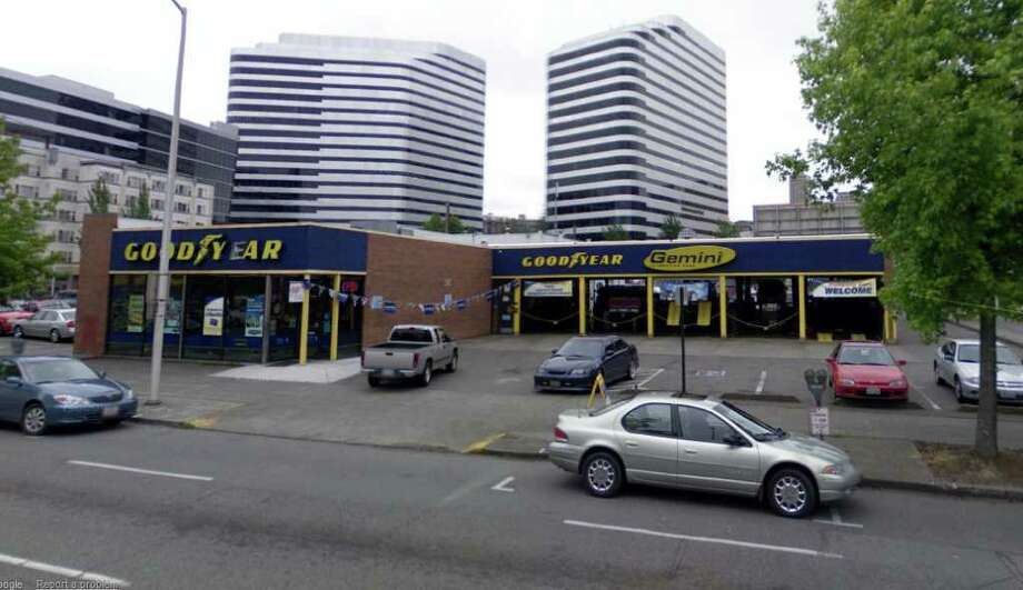Police say Kenneth M. Jacobs, an eight-time felon, burglarized the Goodyear store at 1105 Stewart St. in Seattle Oct. 17. Photo: Google Street View