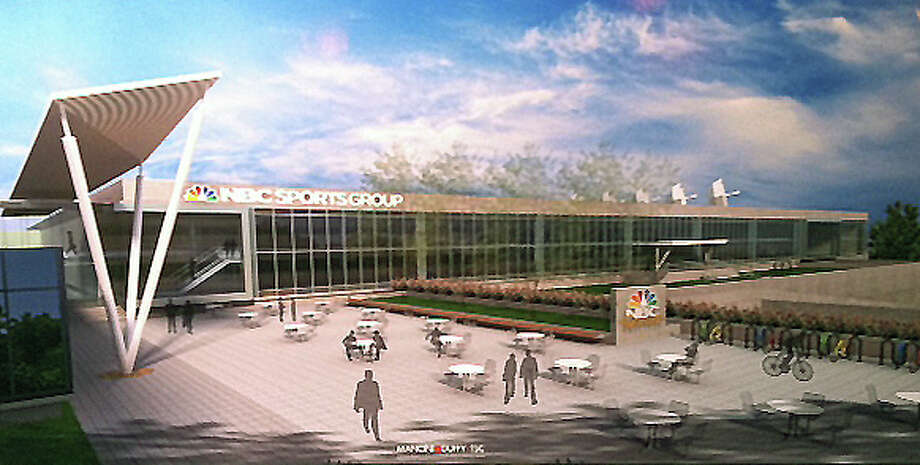 A rendition of the future NBC Sports offices at the former Clairol site in Stamford. Photo: Kate King