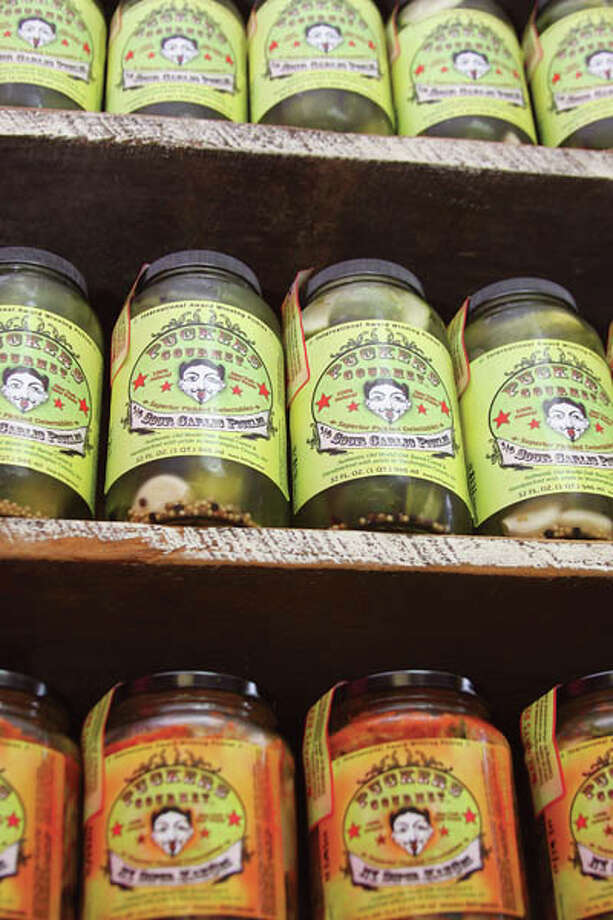 Puckers Gourmet, based in Greenwich, N.Y., offers a wide variety of delectable pickle flavors. Run by Jude and Kelley Goldman, the company also partners with a regional food bank, and uses local farmers' produce whenever possible. Photos by Paul Barrett/Life@Home. Read the story here.