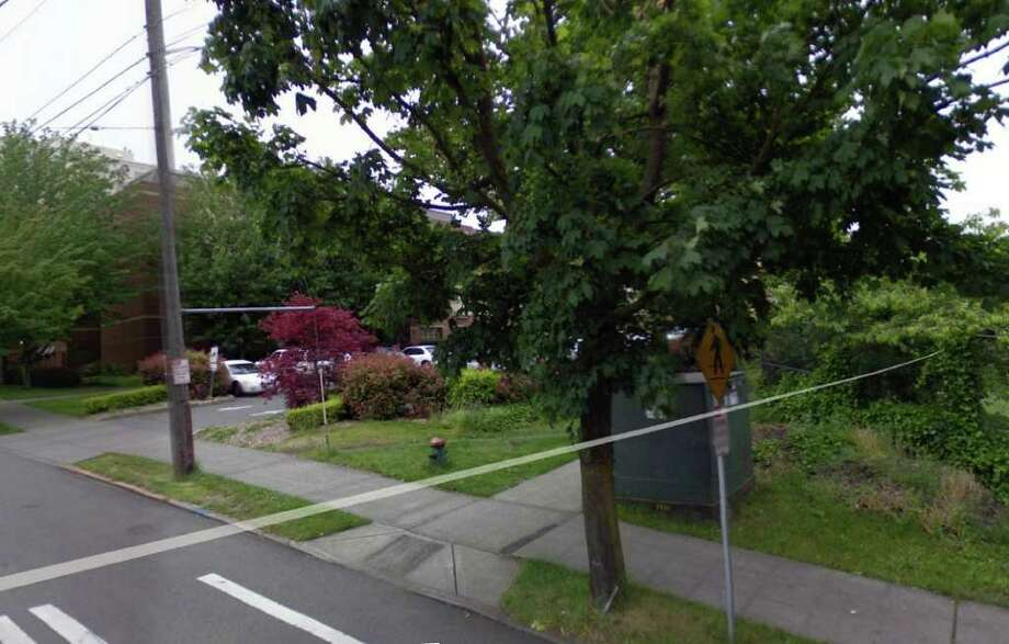 Pacific School was demolished in 1977 after being sold the year before. The former school site at 1110 E. Jefferson is now part of Seattle University. Photo: Google Street View