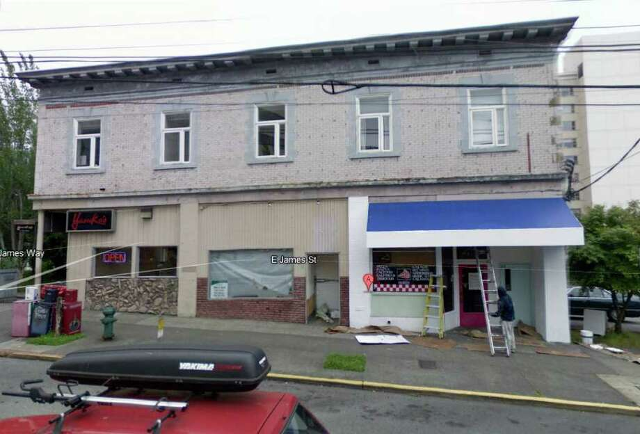 What's now Yasuko's teriyaki was a drug store in the 1930s. Photo: Google Street View