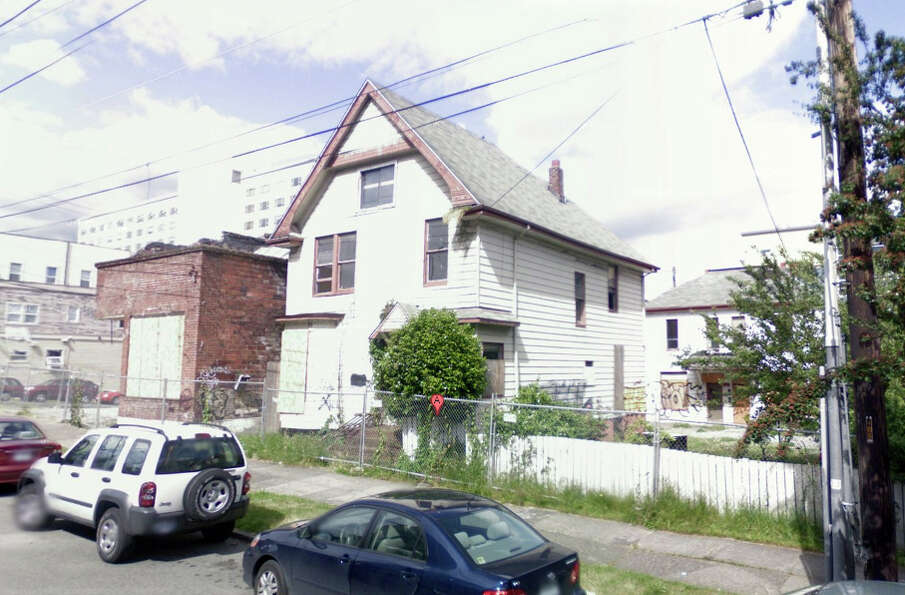 A Google Street View of buildings that were in the 400 block of Broadway in Seattle. They have since