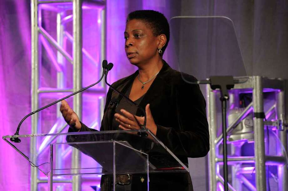 Xerox Chairman and CEO Ursula Burns speaks at a leadership conference on October 4, 2011 in New York City. Her company reported third-quarter profit climbed 28 percent. (Photo by Larry Busacca/Getty Imagesfor WICT) Photo: Larry Busacca, Getty / 2011 Getty Images