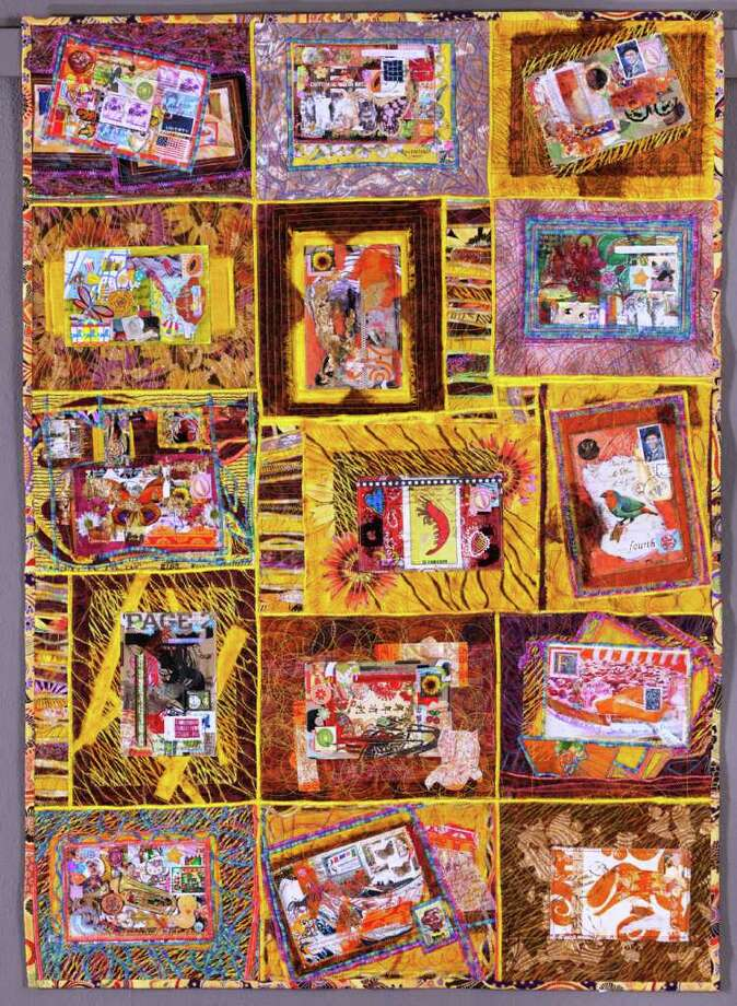 "Leslie Tucker Jenison's and Frances Holliday Alford's quilt ""Wish You Were Here: Postcards from the Road"" is included in ""Lone Stars III: A Legacy of Texas Quilts, 1986- 2011."" Photo: Courtesy University Of Texas Press"