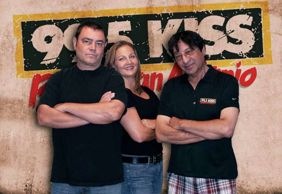 John Lisle (left) and Steve Hahn are out of the KISS radio lineup, the station announced this week. Kelley Kendall will reportedly stay with the station in some capacity.