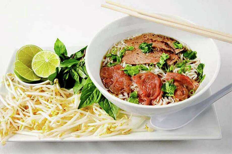 FILE PHOTO  The Vietnamese rice-noodle soup called pho, shown here in a file photo, is among the featured items at the new Pho Yum in Colonie.