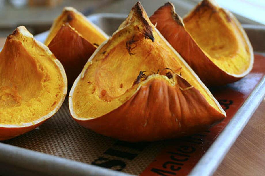 roasted pumpkin slices (penandfork.com)