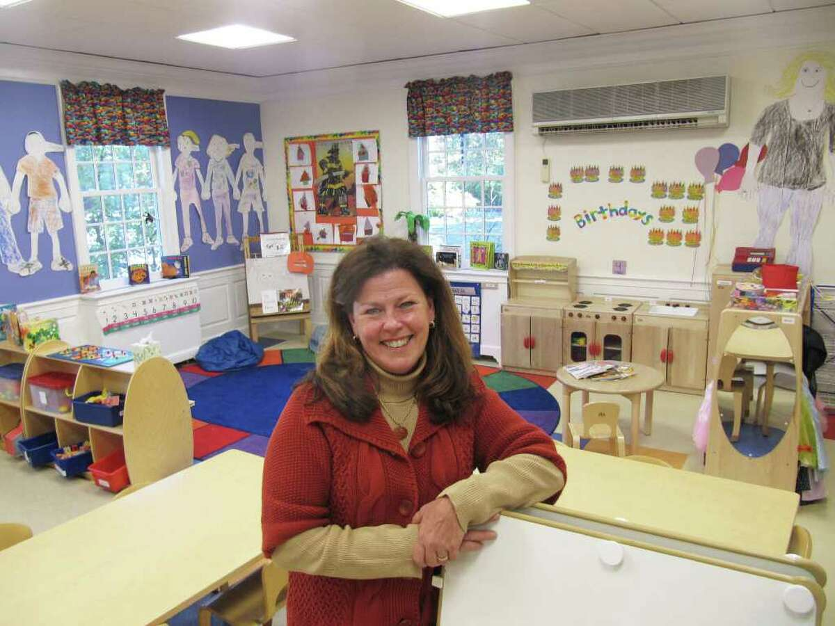 Pictured is Ellen DeHuff, executive director of Saugatuck Nursery School, 245 Post Road E. DeHuff is standing in the new classroom addition, previously a sanctuary and meeting room for Saugatuck Congregational Church.