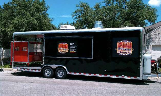 KHill BBQ, truck, This large trailer travels the town to serve its chicken, sausage, pork ribs, smoked brisket, pulled pork.