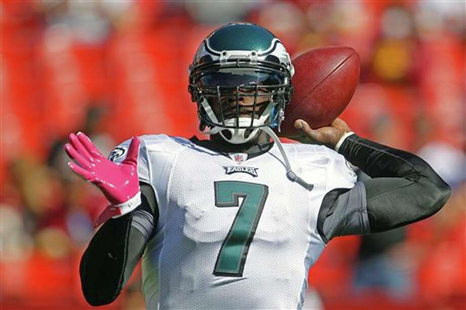 Michael Vick and the Eagles are coming off a victory over the Redskins and a bye. ASSOCIATED PRESS PHOTOZ