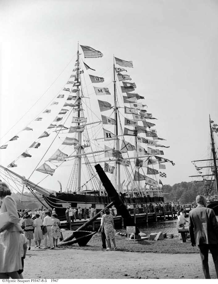 The Mystic Seaport will celebrate the 70th anniversary of the arrival of the Charles W. Morgan in the village on Saturday, Nov. 5. Photo: Contributed Photo