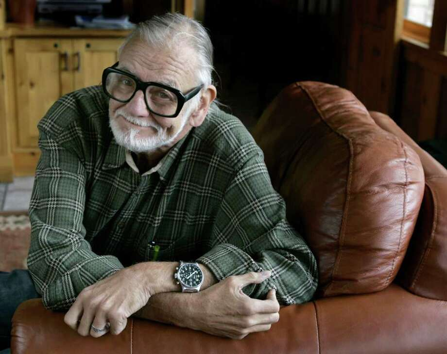 "Director and writer George Romero poses for a photograph while talking about his film ""Diary of the Dead' at the Sundance Film Festival in Park City, Utah, on Monday, Jan. 21, 2008.  Photo: Amy Sancetta, AP / AP"