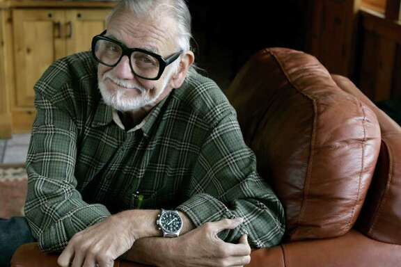 "Director and writer George Romero poses for a photograph while talking about his film ""Diary of the Dead' at the Sundance Film Festival in Park City, Utah, on Monday, Jan. 21, 2008.  Romero shot the first of his five zombie films, 'Night of the Living Dead', nearly four decades ago."