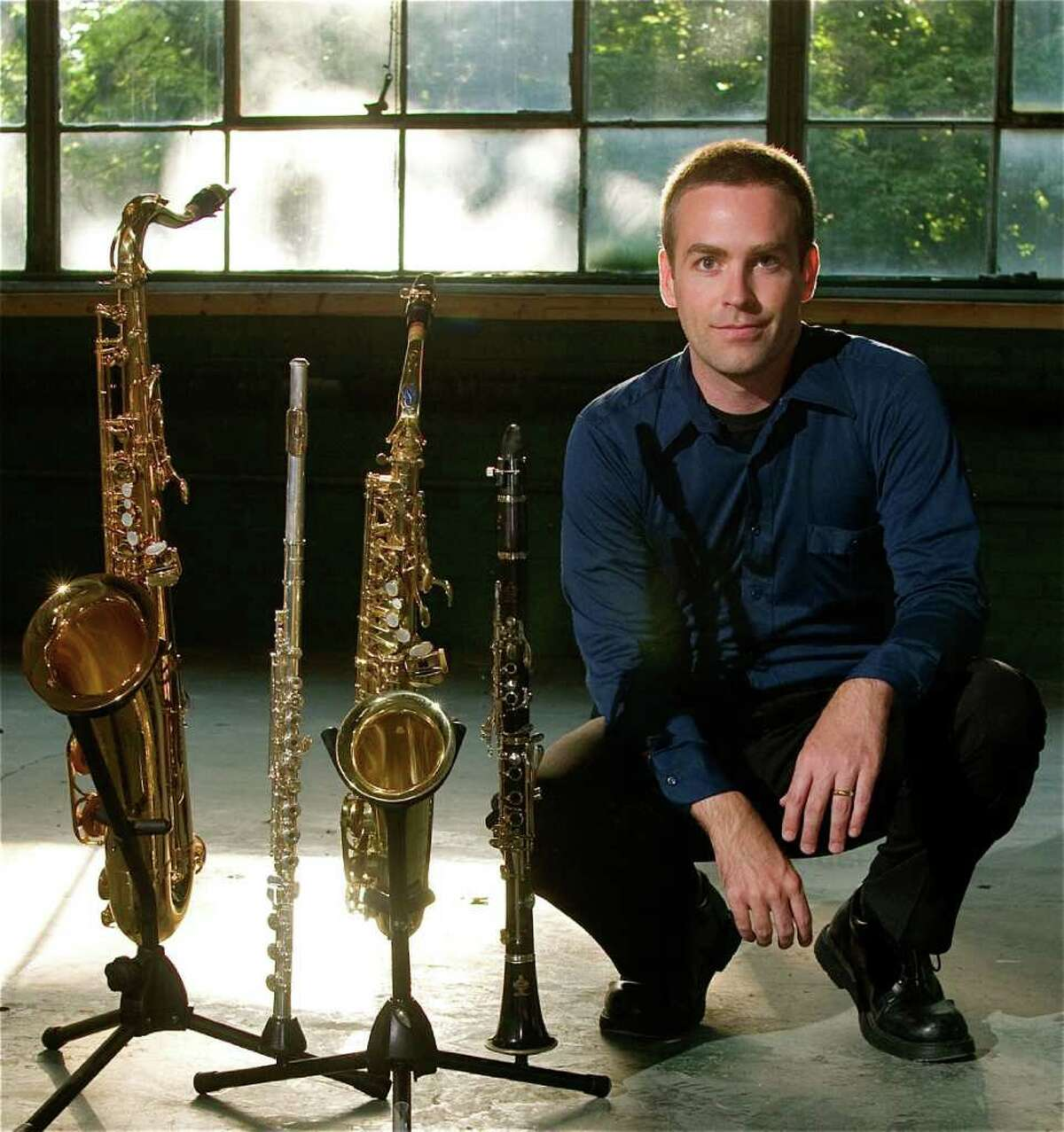 Daniel Bennett, shown here, will perform as part of his trio, Daniel Bennett Group, in a free concert Sunday at the Ridgefield Library at 2 p.m. The award-winning Manhattan jazz trio includes Bennett on alto saxophone and flute, guitarist Mark Cocheo, and Tyson Stubelek on drums.