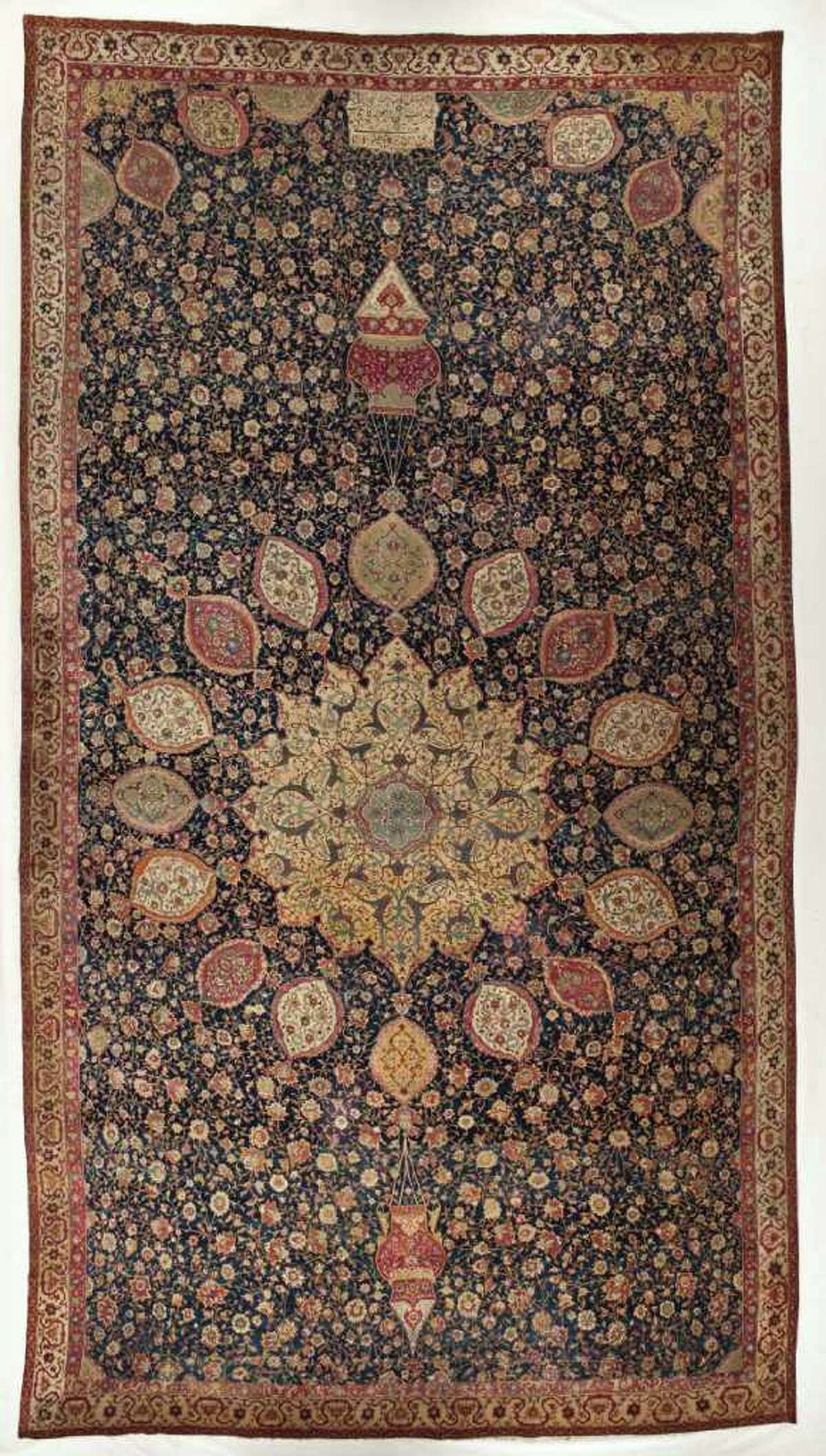 Ardabil Carpet Tabriz, Iran Dated 1539-40 (A.H. 946) Silk plain weave foundation with wool knotted pile Los Angeles County Museum of Art, gift of J. Paul Getty