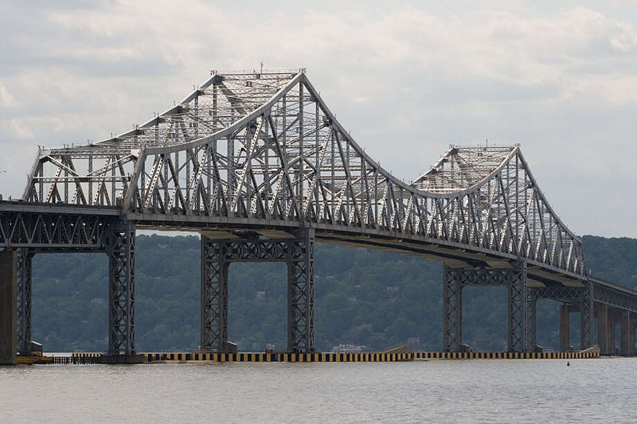 A distraught 22-year-old Greenwich man was pulled from the edge of the Tappan Zee Bridge in a dramatic rescue Wednesday evening that involved police stunning him with Taser. Photo: Contributed Photo