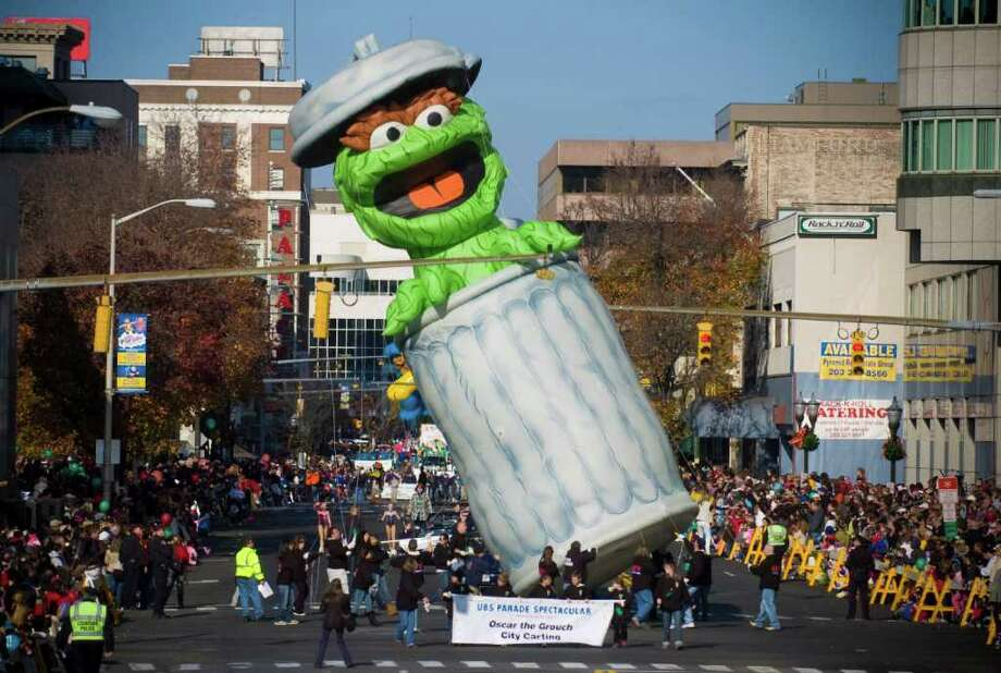 Oscar the Grouch. Photo: Chris Preovolos, ST / Stamford Advocate