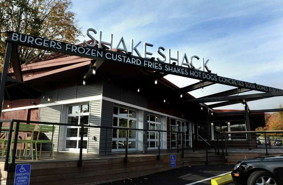 Shake Shack, a burger stand with a cult-like following, opened its newest location in Westport, Conn. this past July. Photo: Autumn Driscoll / Connecticut Post