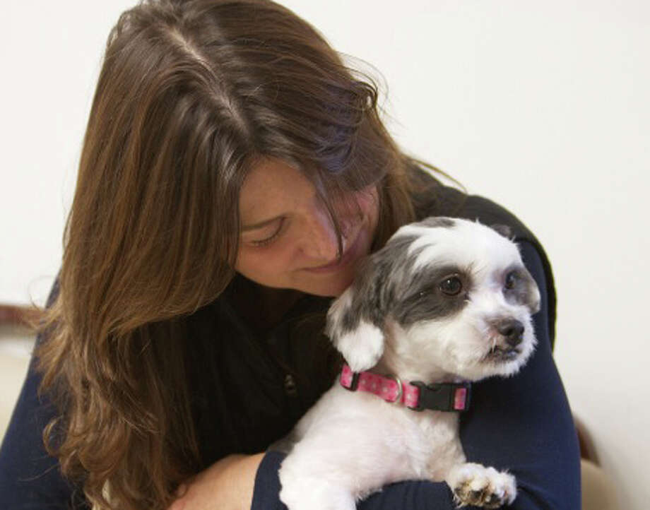 Jennifer Ross and her dog, Bandit, were reunited recently after a 16-month ordeal that began when the dog was abducted. Photo: Contributed Photo / Westport News contributed