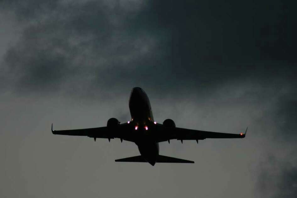 Bill Montgomery/Chronicle  A Southwest Airlines jet takes off at Hobby Airport in May 2008.