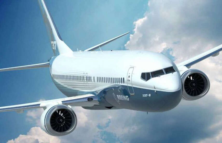 A depiction of a future Boeing 737 MAX.