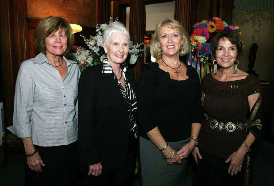 OTS/HEIDBRINK - Janet Ihfe (Pres Auxiliary Foundation), Rhonda Canales (Pres Auxiliary), Jaquie Rothermel (Pres Elect Auxiliary) and Peggy Karam (VP Auxiliary) were at the SA Bar Auxiliary Membership meeting on 10/25/2011 at the SA Woman's Club. names checked photo by leland a. outz Photo: LELAND A. OUTZ, FREELANCER / SAN ANTONIO EXPRESS-NEWS