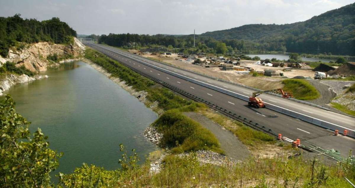 Carol Kaliff/staff photographer. The Route 7 Bypass in Brookfield goes through the old Quarry.
